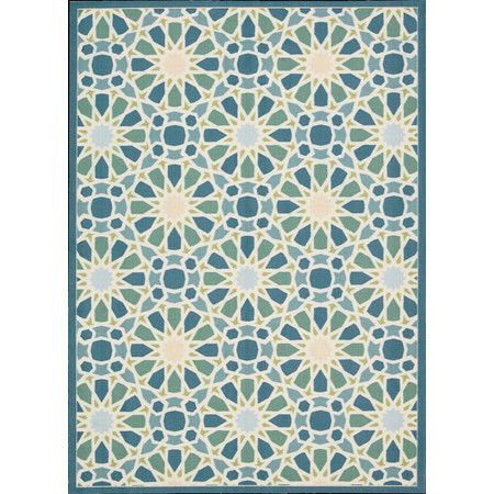 Stella Indoor/Outdoor Rug in Porcelain  at Joss and Main