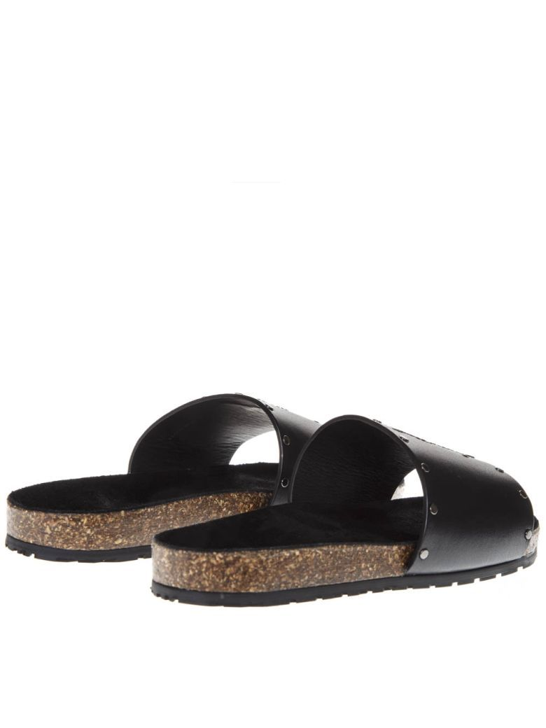 0082010e0c Saint Laurent Men'S Jimmy 20 Ysl Slide Sandals In Black | ModeSens ...