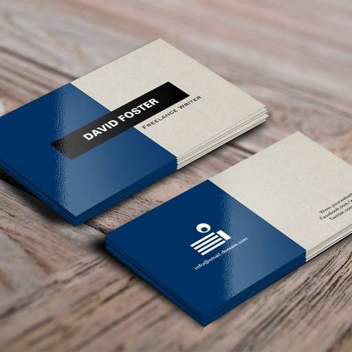 Extrêmement Freelance Writer - Simple Elegant Stylish Business Cards | Custom  RJ83