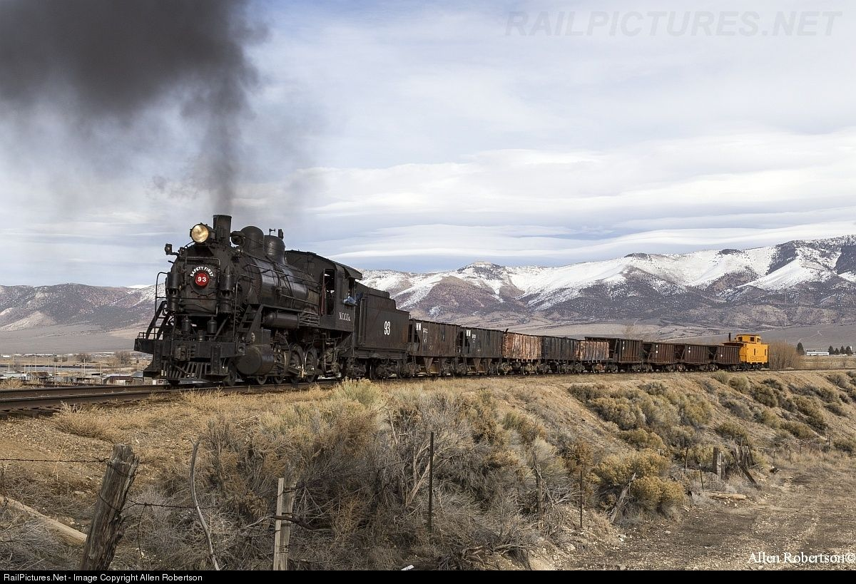 RailPictures.Net Photo: NCCCo 93 Nevada Northern Railway Steam 2-8-0 at Ely, Nevada by Allen Robertson