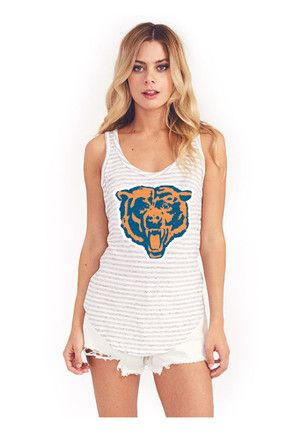 ae735cbe Chicago Bears Womens Navy Blue Tri-Blend Racerback Tank Top | NFL ...