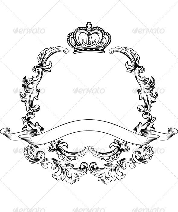 One Color Crown Insignia | Pinterest | Crown, White wreath and ...