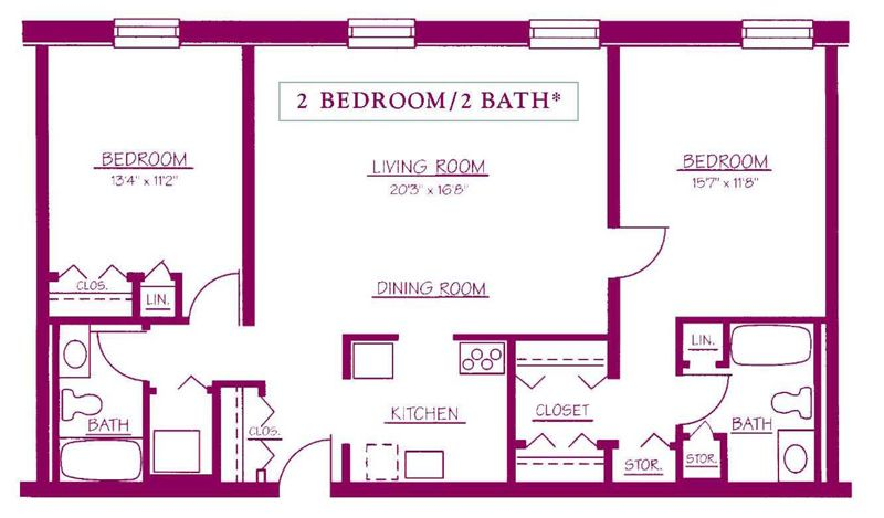 ... Superb Two Bed Two Bath House Plans #10: ... 2 Bedroom 2. « Part 36