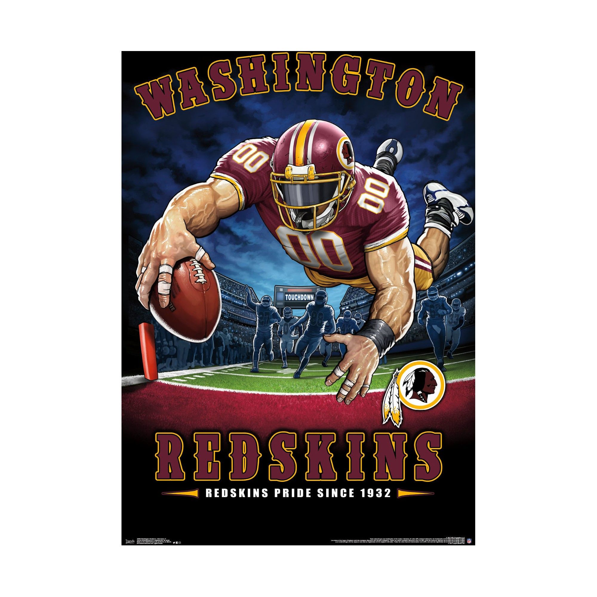 Washington Redskins End Zone Unframed Wall Poster
