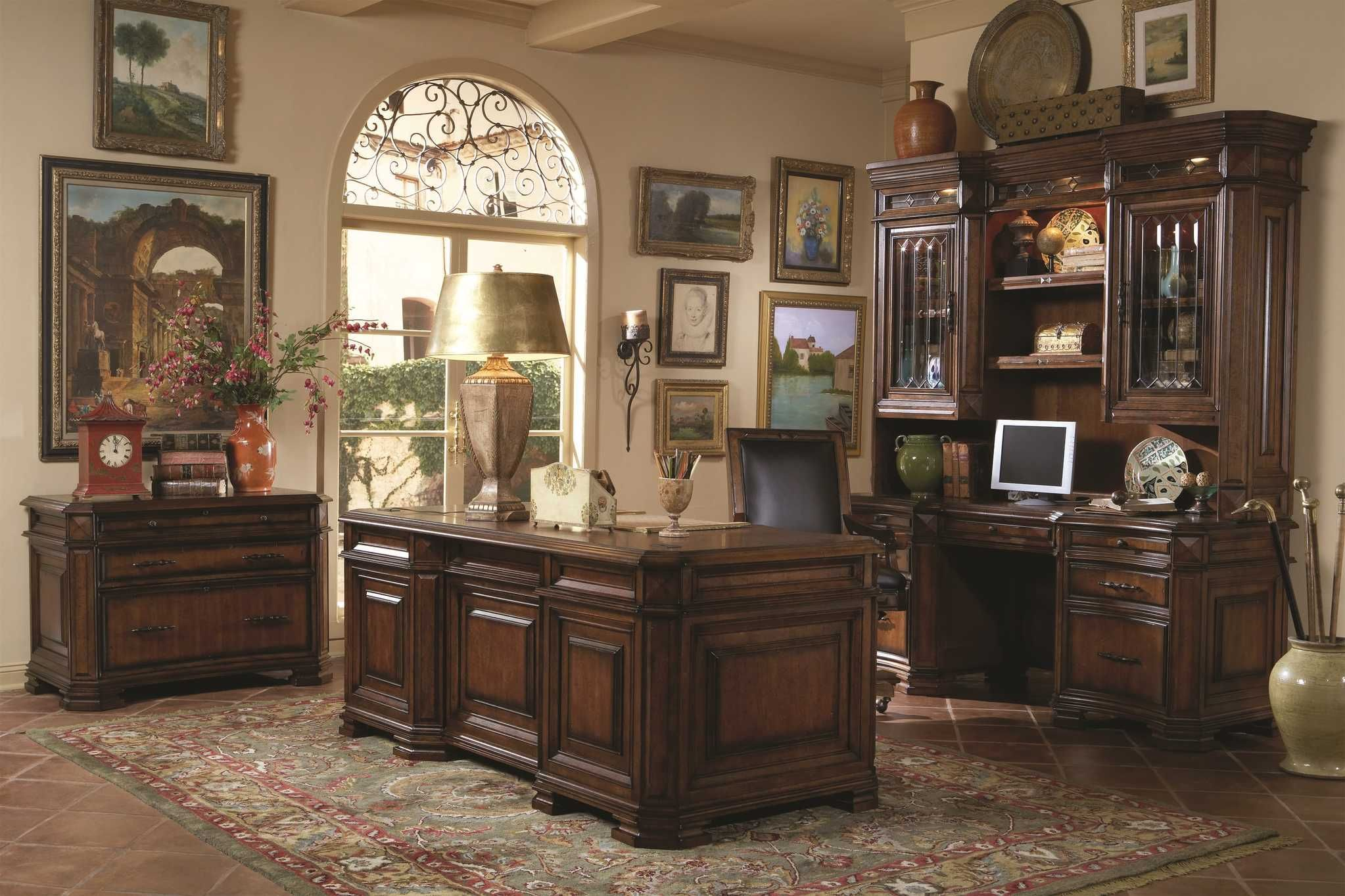 3350executive home office furniture in light cherry