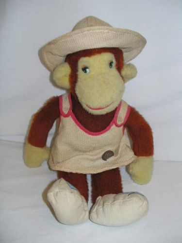 Vintage-1960s-Knickerbocker-Monkey-Stuffed-Plush-Animal-Possible-Curious-George