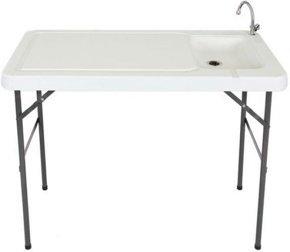 Portable Fish Cleaning Station Table Board Game Sink Hunting Camping ...