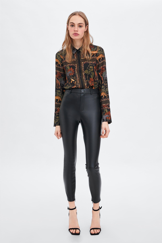 27ac19522fe747 Faux leather leggings in 2019 | Fashion | Leather Leggings, Faux ...