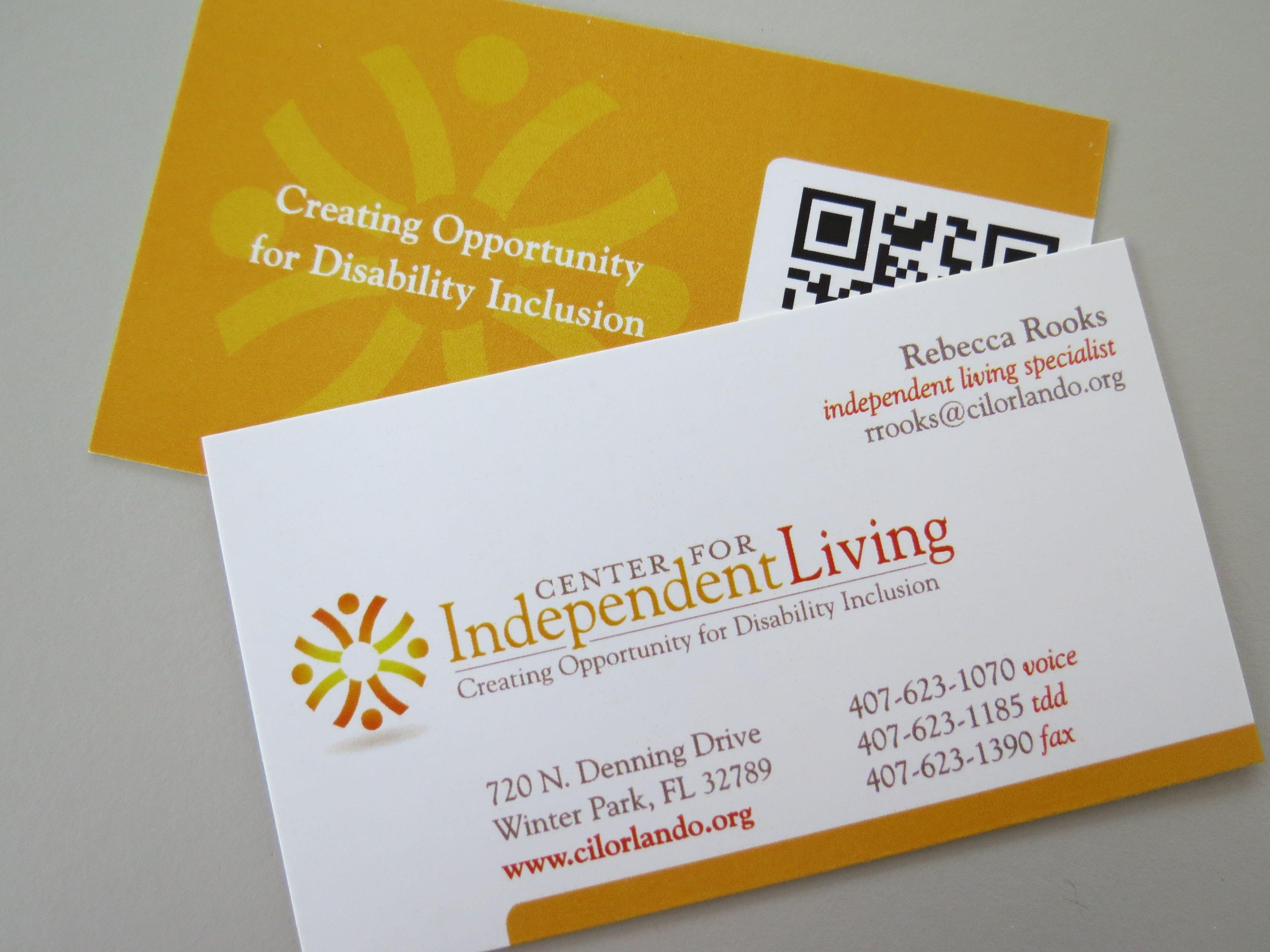 Business Cards 2 Sided Digital Printed Gloss Cover Bleeds Qr Code Www Winterpark Minutemanpress Com Business Cards Cards Digital Prints