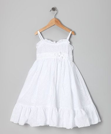 cf7786b88f5d Take a look at this White Eyelet Dress - Toddler & Girls by Kid's Dream on  #zulily today!