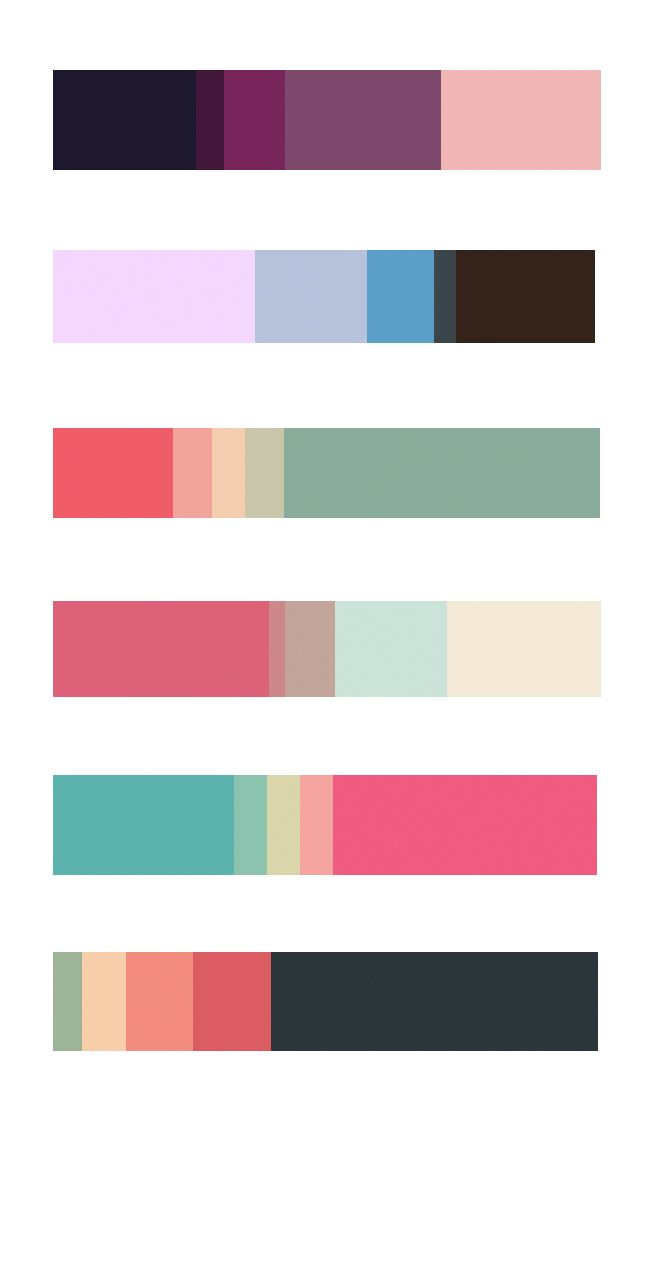 Colour Palettes Resume Design Pie Chart Palette