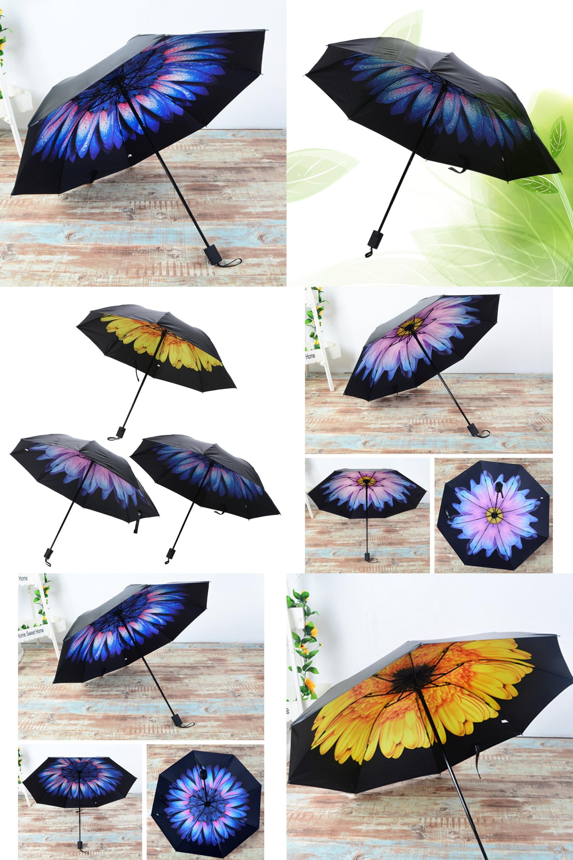 5918b145c [Visit to Buy] Rain Umbrellas Women Sun Vinyl Umbrella 3D Printed Sunny  Folding Umbrella Anti-UV Sunny and Rainy Umbrella Black Glue #Advertisement