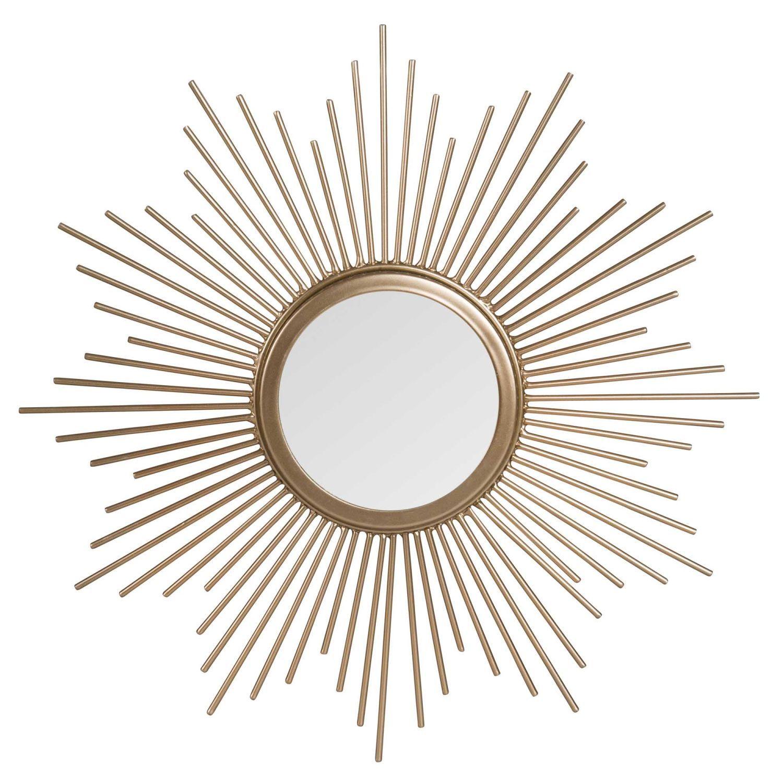 miroir soleil en m tal dor d33 maisons du monde. Black Bedroom Furniture Sets. Home Design Ideas