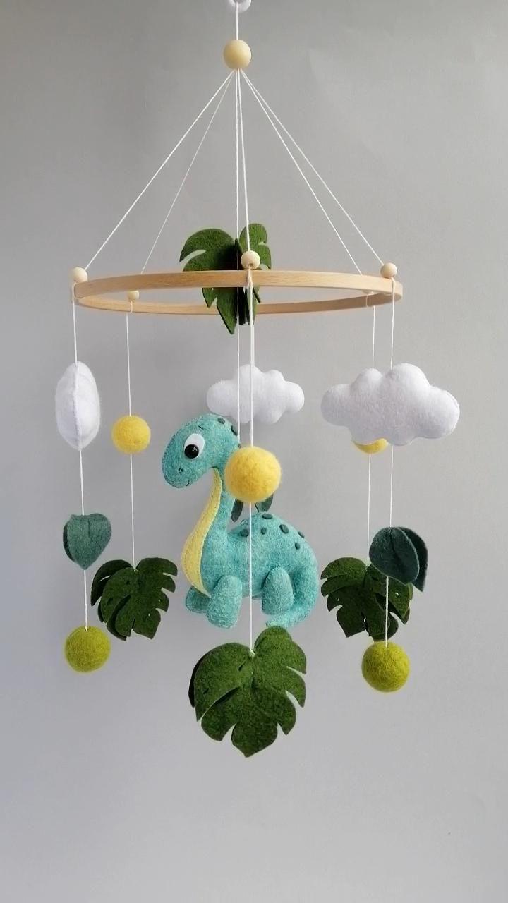 Baby mobile dinosaur Crib mobile dinosaur Hanging nursery mobile Baby mobile neutral Baby Mobile Boy
