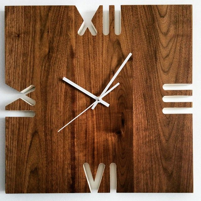 Black walnut wall clock, weekend project Reloj, Madera y Relojes