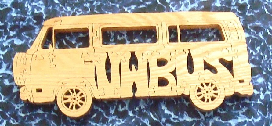 vw bus puzzle oak hand cut on scroll saw by. Black Bedroom Furniture Sets. Home Design Ideas