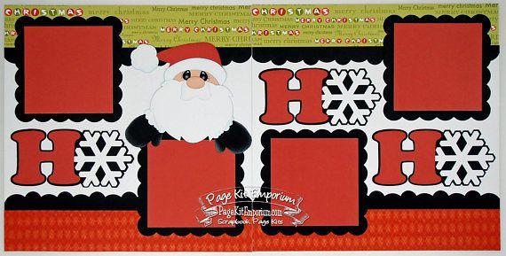 scrapbook page kit christmas santa ho ho ho boy girl baby 2 - Santa Hohoho 2