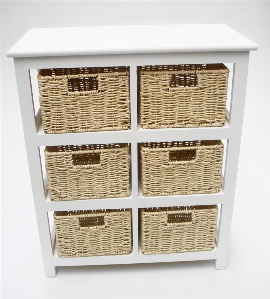Details about White Shabby Chic 6 Chest of Drawers Bedroom