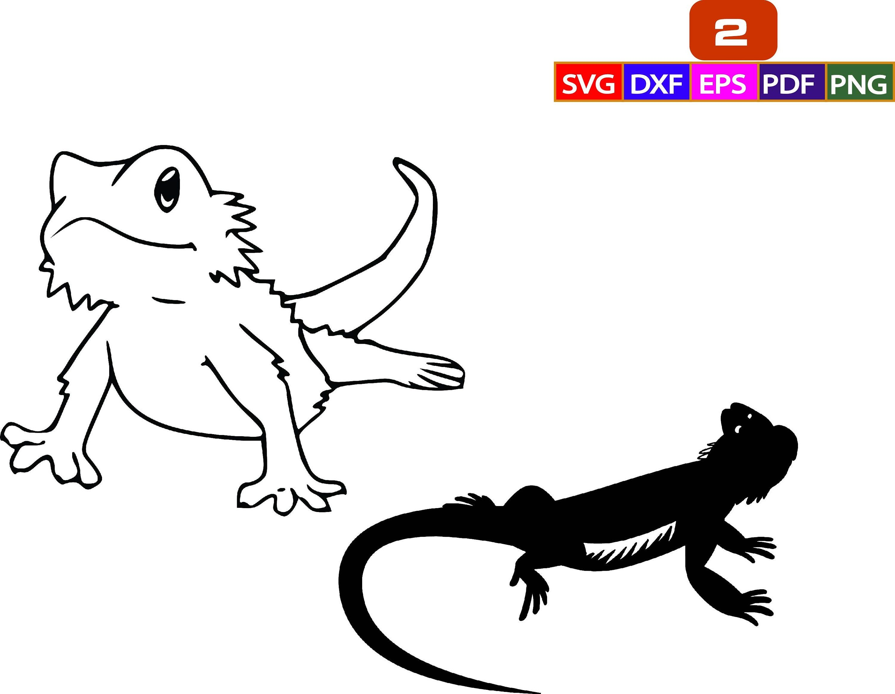 Bearded Dragon Iguana Svgbearded Dragon Svgsvg Png Clipart Etsy In 2021 Bearded Dragon Dragon Silhouette Bearded Dragon Tattoo