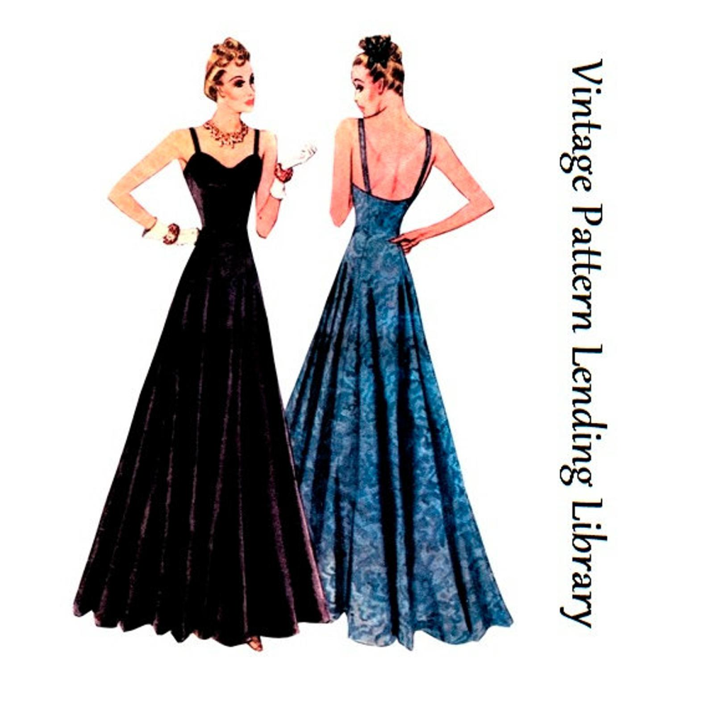 1930s Ladies Evening Gown With Sweetheart Neckline Reproduction 1938 Sewing Pattern T3027 32 Inch Bust In 2021 Evening Gowns Prom Dress Sewing Patterns Ladies Gown [ 999 x 1000 Pixel ]