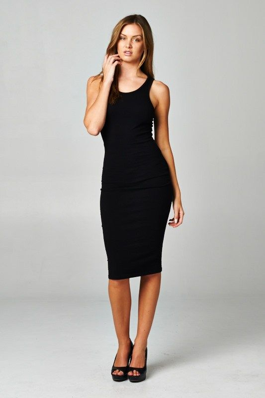 This body con dress is made with heavyweight cotton span dress that has  great stretch and is soft. Fabric : Cotton, Spandex Made In : U.