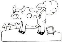 Menta Más Chocolate - RECURSOS y ACTIVIDADES PARA EDUCACIÓN INFANTIL: Dibujos para colorear: VACA y TORO