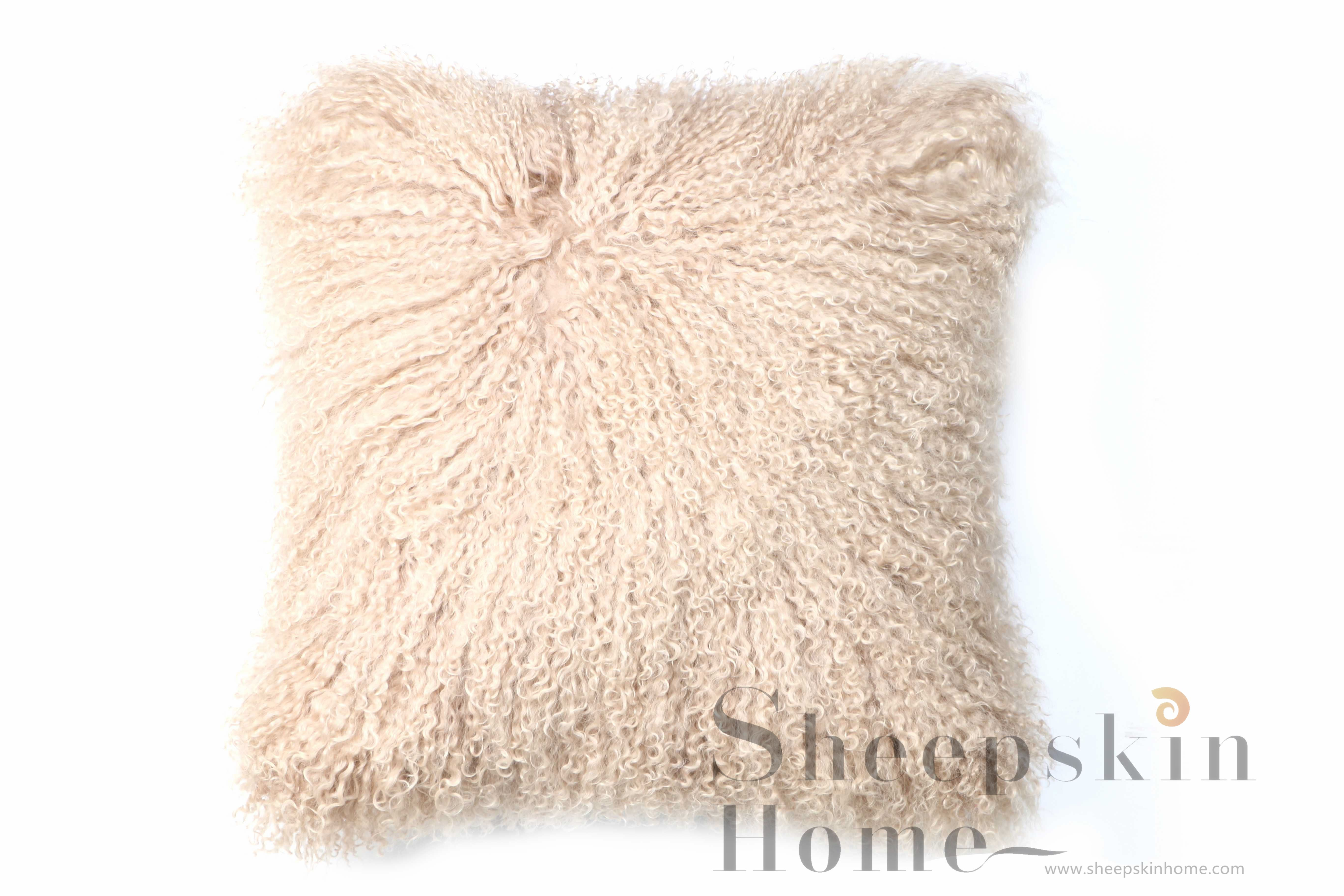 Luxuriously Soft Beautifully Crafted Mongolian Lamb Pillow By