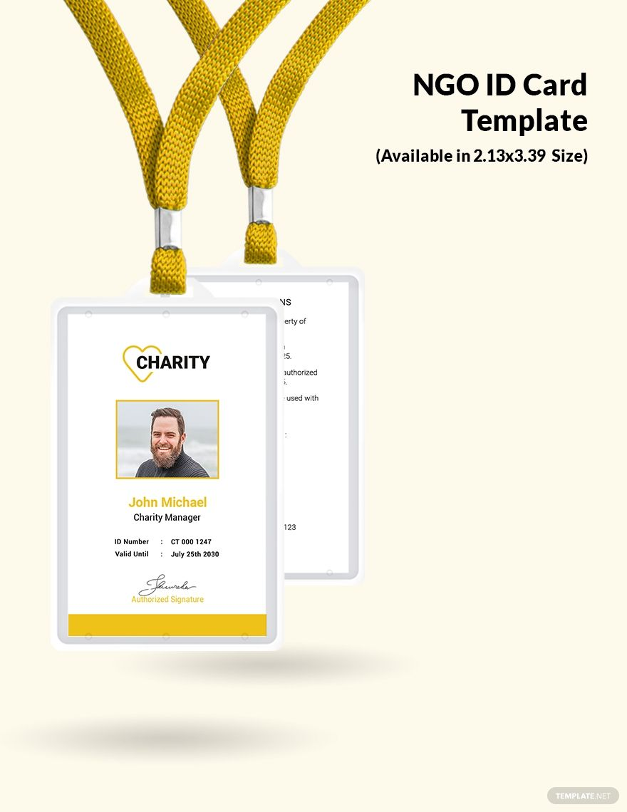 Ngo Employees Id Card Template Word Psd Indesign Apple Pages Illustrator Publisher Employee Id Card Id Card Template Card Template