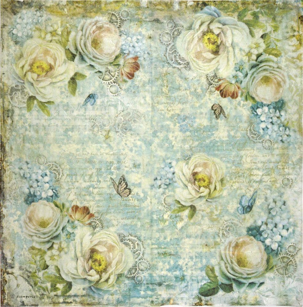 Rice Paper for Decoupage Decopatch Scrapbooking Sheet Craft Vinatge Flowers