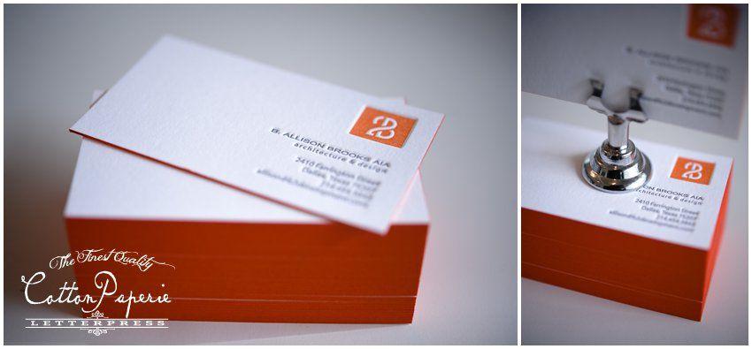One color business cards arts arts cottonpaperie letterpress business cards on crane lettra and edge colourmoves