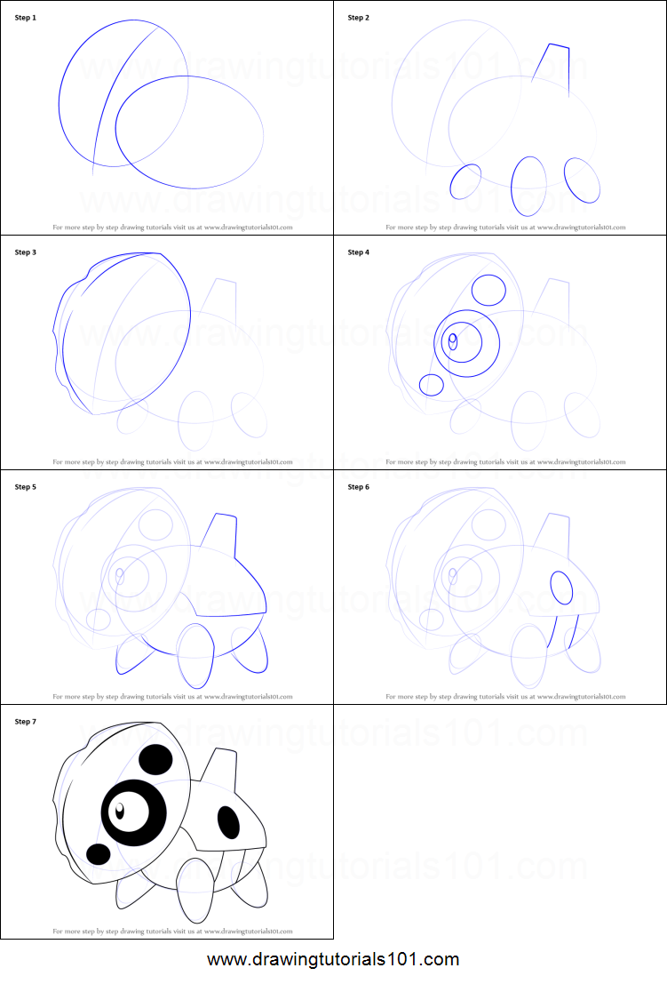 How To Draw Aron From Pokemon Printable Step By Step Drawing Sheet Drawingtuto Drawing Sheet Easy Pokemon Drawings Cute Easy Drawings