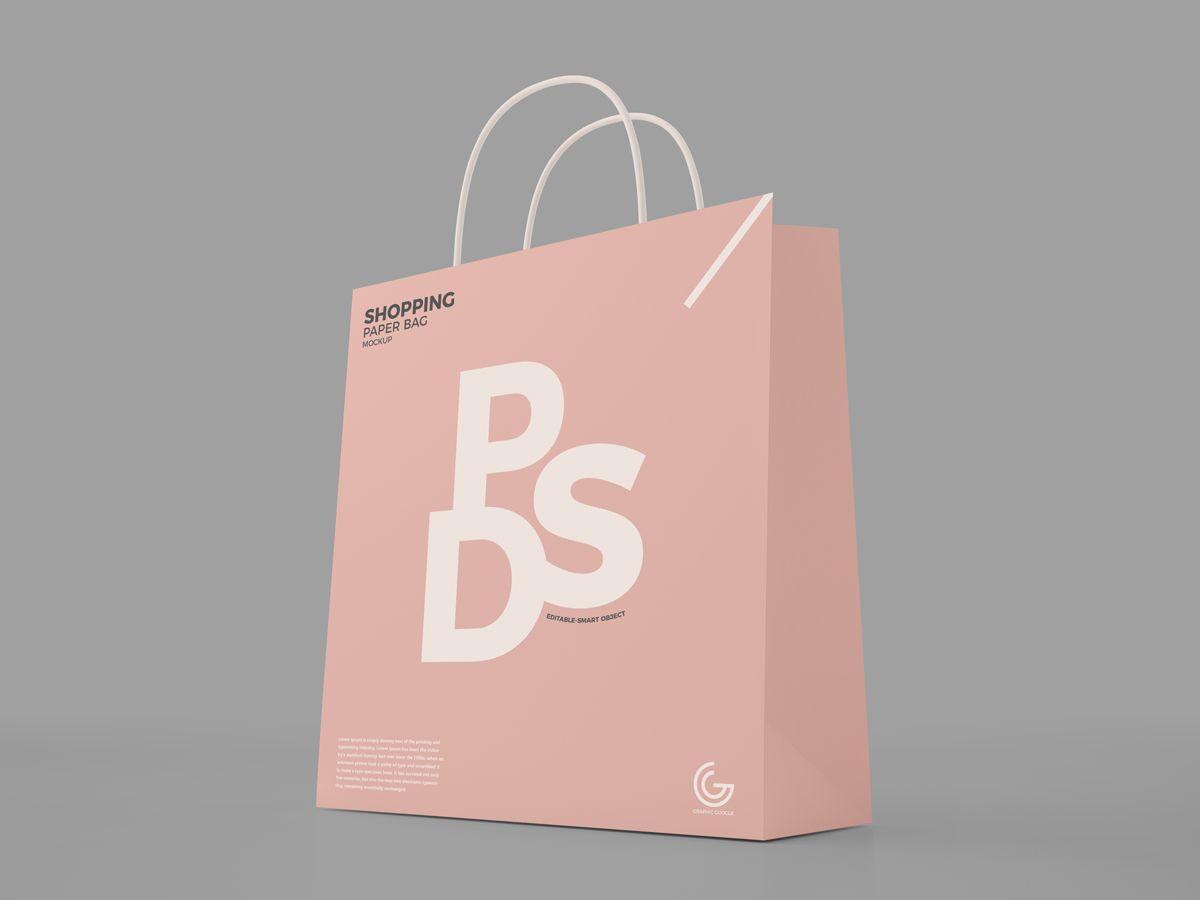 Download Free Modern Shopping Paper Bag Mockup Psd For Presentation 2018 Bag Mockup Mockup Psd Shopping Bag Design