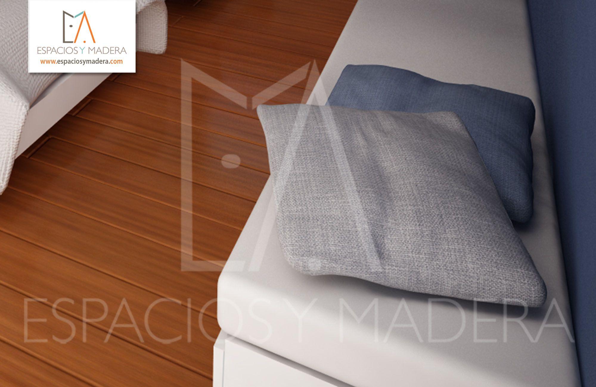 Los tonos azules y neutros son ideales para garantizar el descanso.