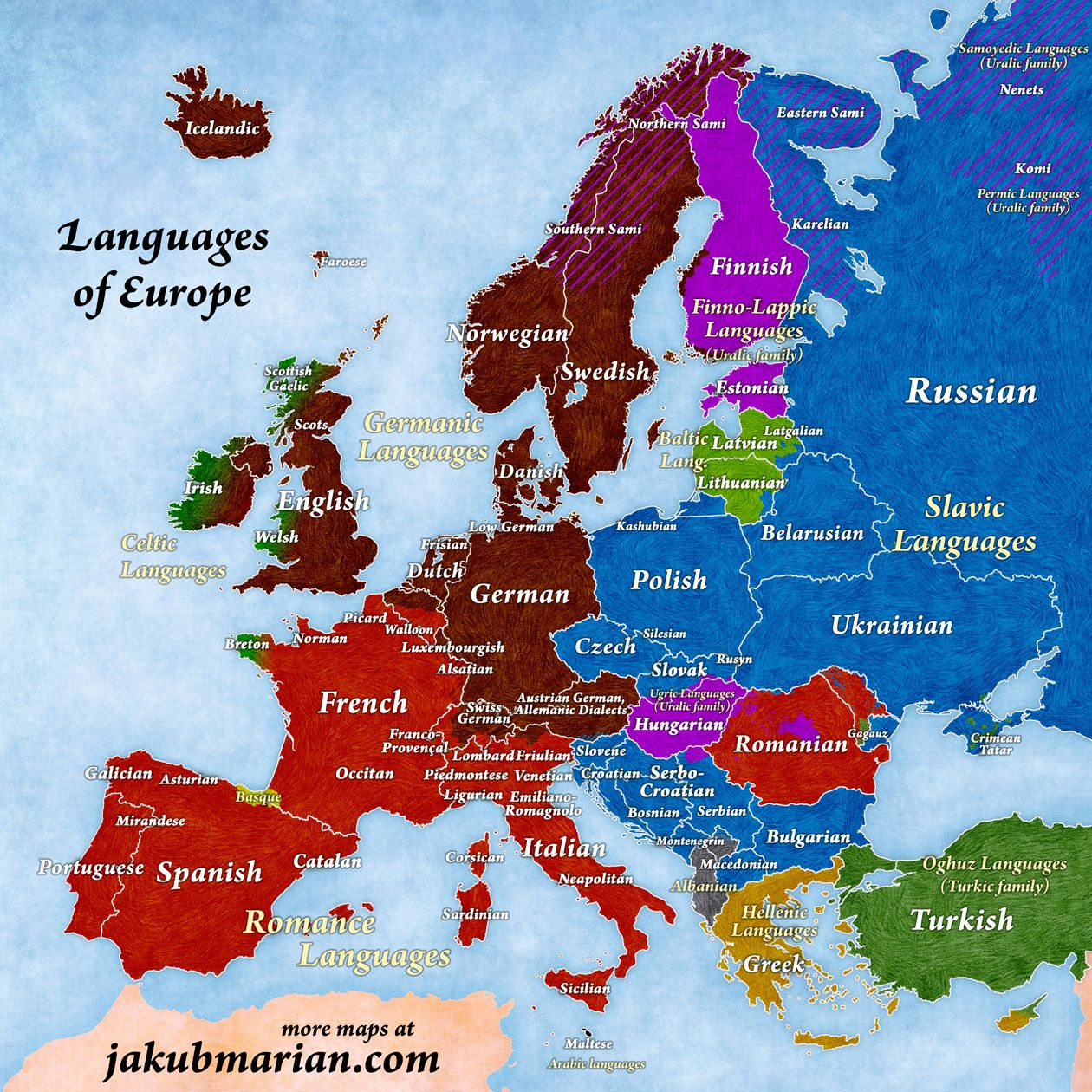 Map of languages and language families of europe jakub marian map of languages and language families of europe jakub marian sciox Image collections