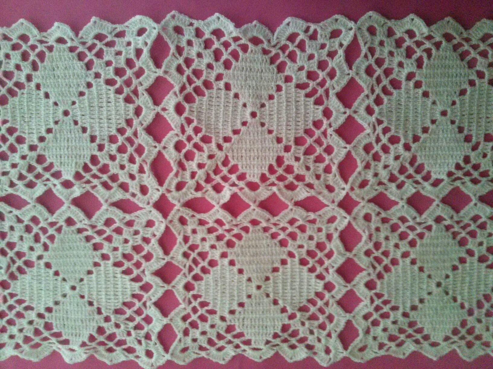 Camino de mesa mantel colcha o individual manteles for Camino de mesa a crochet