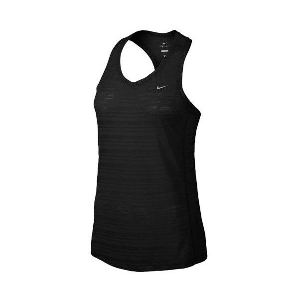 Nike Dri-FIT Touch Breeze Tank Women's ($35) ❤ liked on Polyvore featuring activewear, wicking shirts, nike, sweat wicking shirts, nike activewear and moisture wicking shirts
