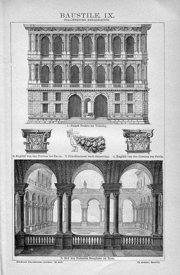 Italian Renaissance Brockhaus Vintage Architecture Architecture Presentation Architecture Art
