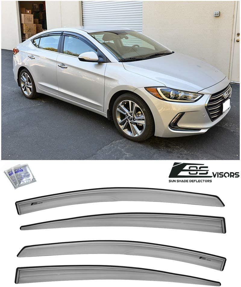For 2017 Up Hyundai Elantra Mugen Style Tape On Side Vents Window Deflectors Hyundai Elantra Elantra Window Deflectors