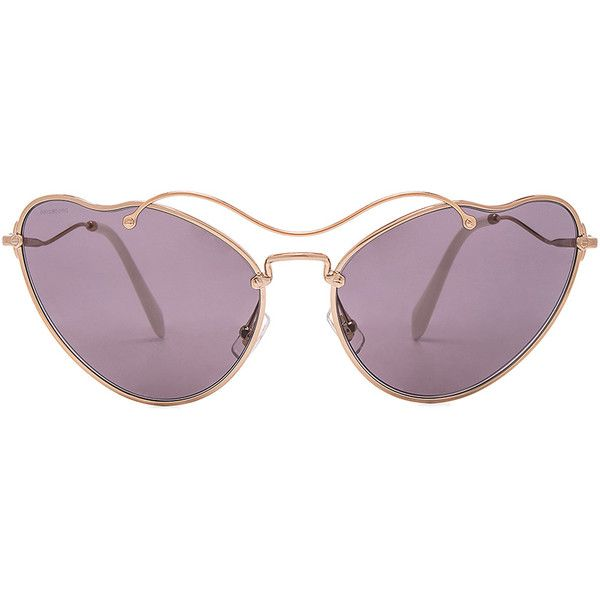 cfc36be5c6 Miu Miu Cat Eye Sunglasses ( 505) ❤ liked on Polyvore featuring accessories