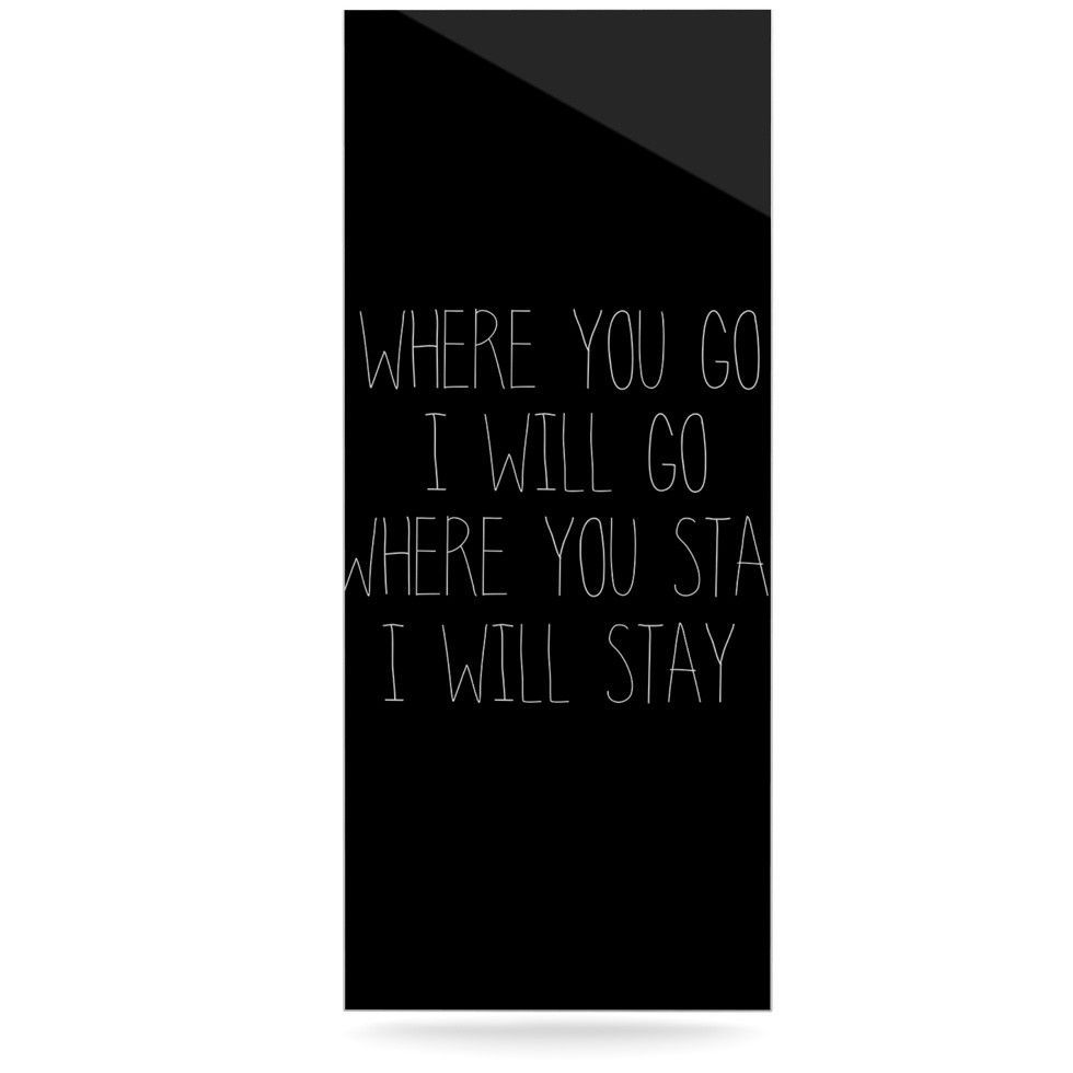 """Suzanne Carter """"Where You Go"""" Typography Luxe Rectangle Panel"""