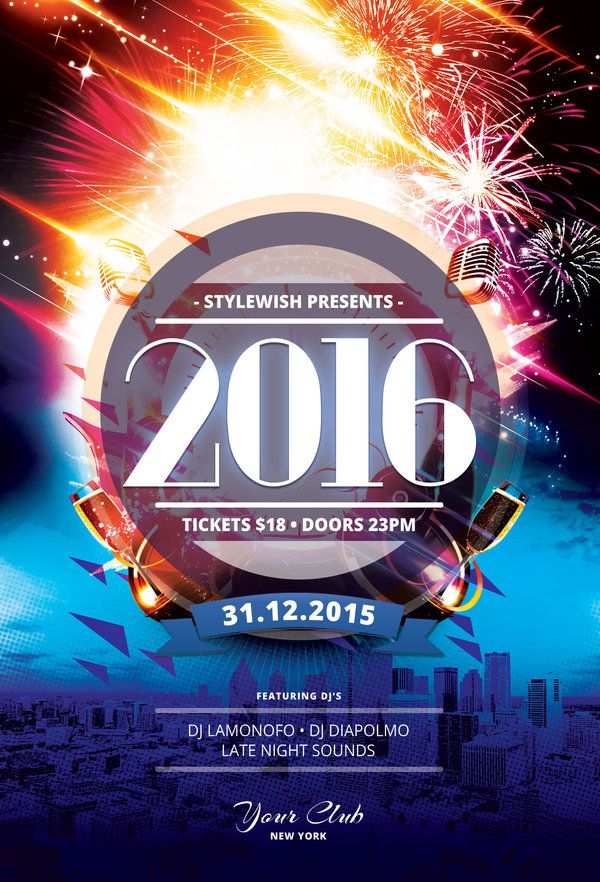 New Year  Flyer Template Buy Psd File    Flyer Design