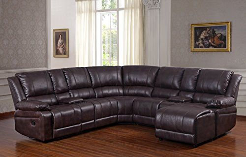 Best Ufe Robinson Sectional Sofa With Recliner Chaise Console W 400 x 300