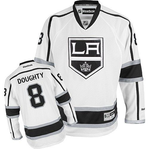 quality design ab2fc c8ae3 Men's Los Angeles Kings Drew Doughty Reebok White Away ...