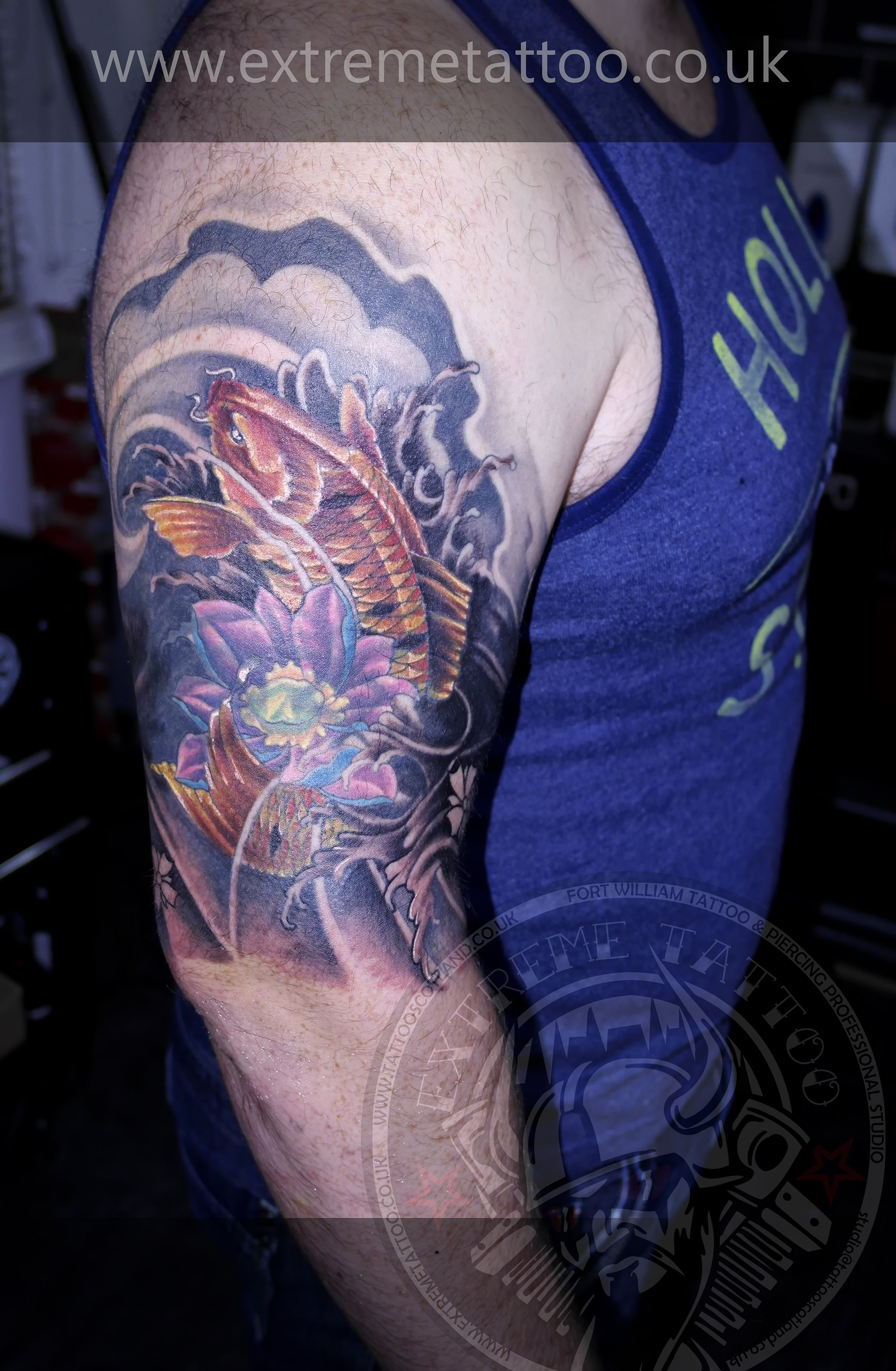 Koi fish tattoolotus flower tattoo sleeve in progresscover upgabi koi fish tattoolotus flower tattoo sleeve in progresscover upgabi tomescu izmirmasajfo