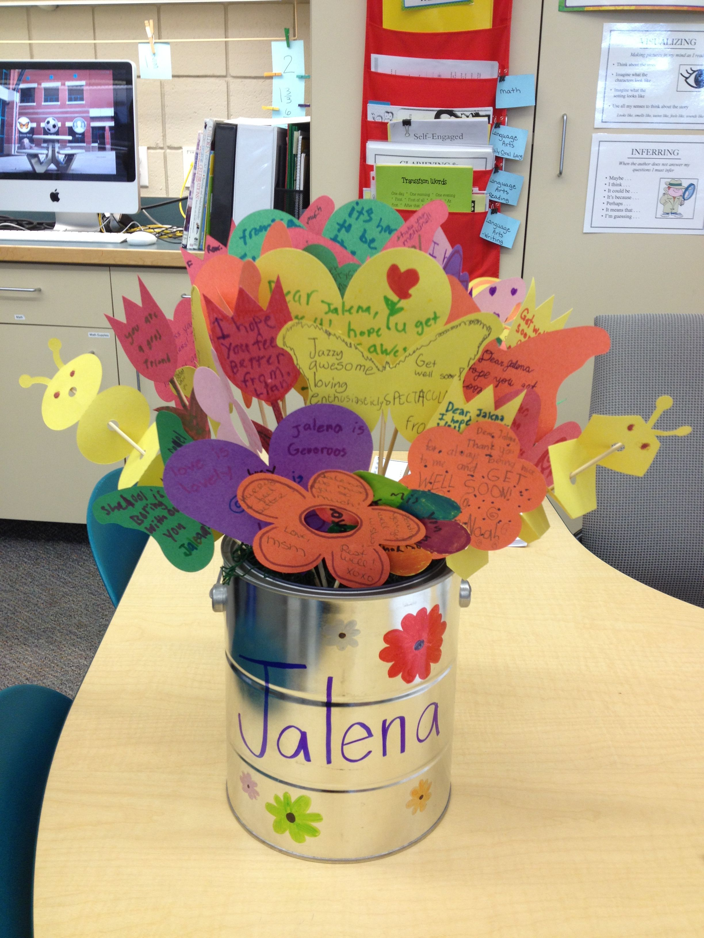 Get well cards flower bouquet for student my creative
