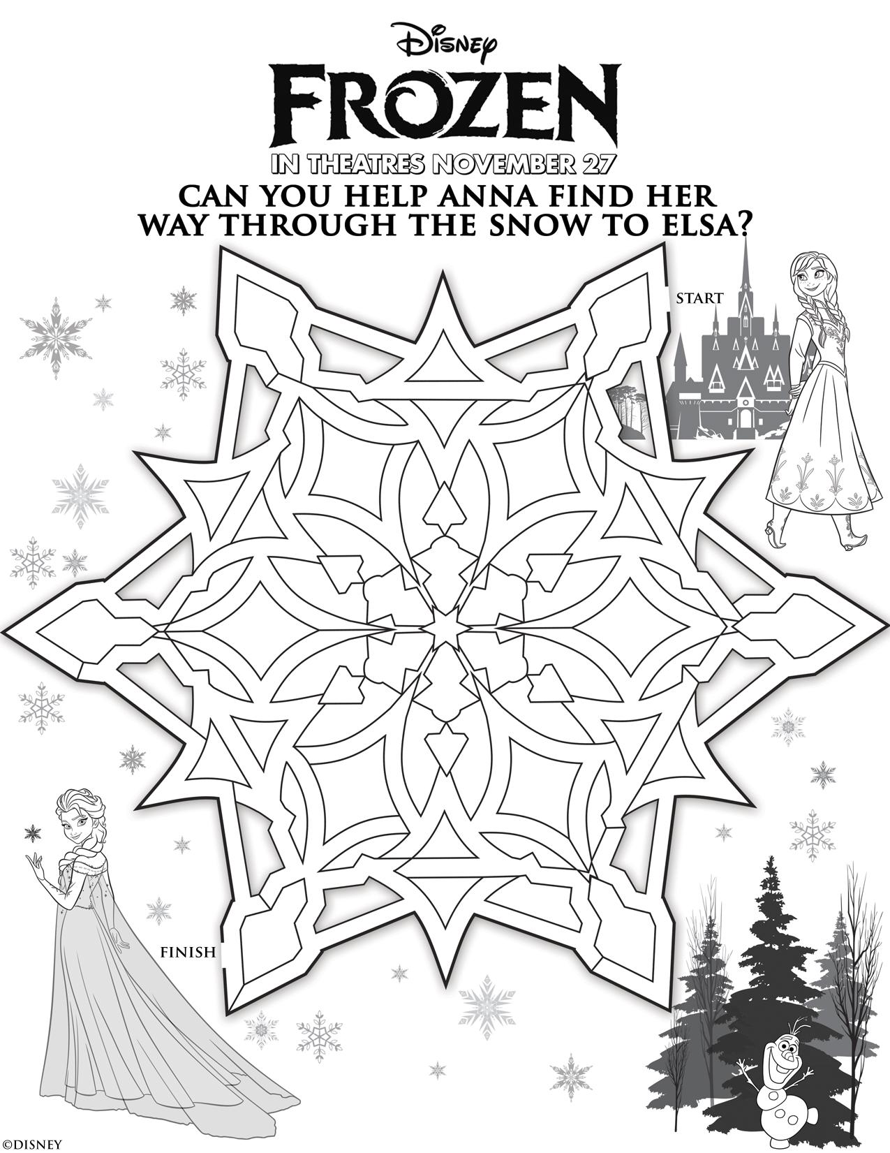 Frozen Anna Elsa Maze