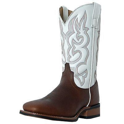 Laredo Western Boots Mens Lodi Stockman Sq Toe 11 D Redwood White 7891