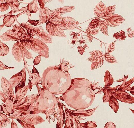 Pottery Barn Lisette Pomegranate Duvet Cover W 3 O Shams King New