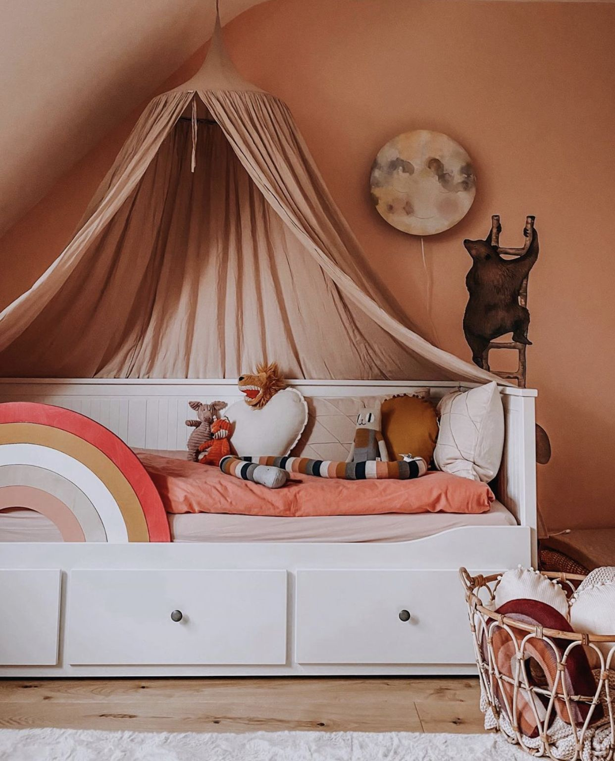 RooMoon Rausfallschutz Regenbogen rainbow kidsbed