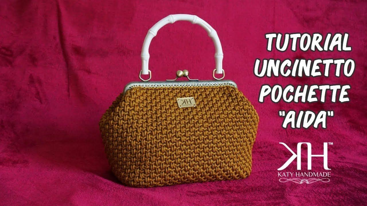 Tutorial Uncinetto Pochetteborsa Aida Crochet Diy Bag Katy